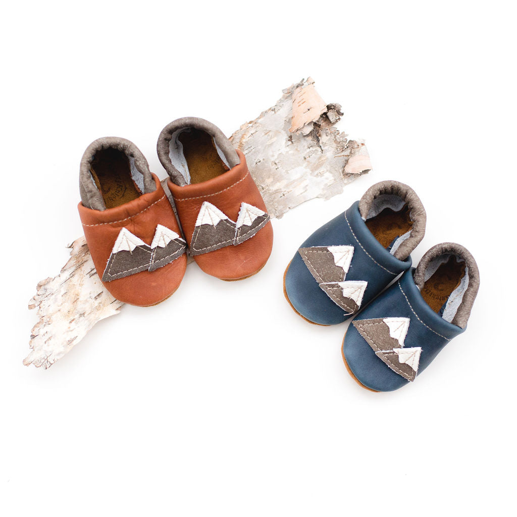 Cedar & Denim Mountains Leather Shoes Moccs Baby and Toddler