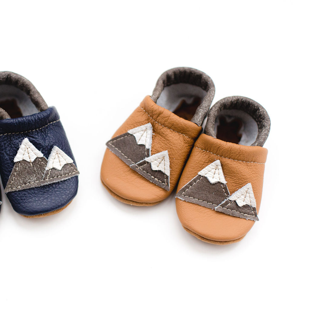 Tan Mountains Leather Shoes Moccs Baby and Toddler