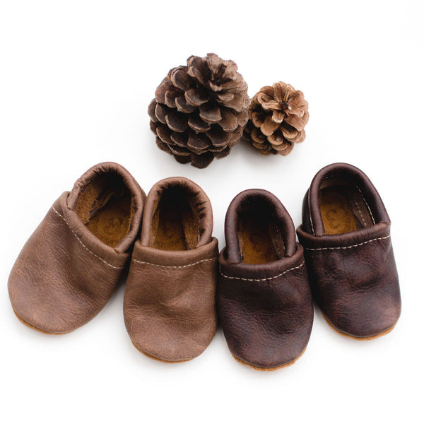 Carob & Hickory Leather Loafers Shoes Baby and Toddler