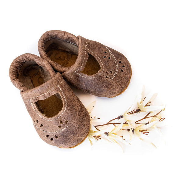 Weathered Wood Ivy Janes Shoes Baby and Toddler
