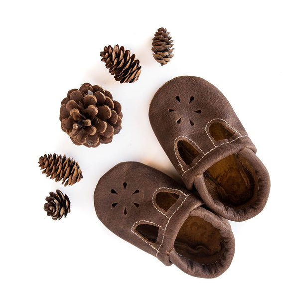 Carob T-Strap Shoes Baby and Toddler