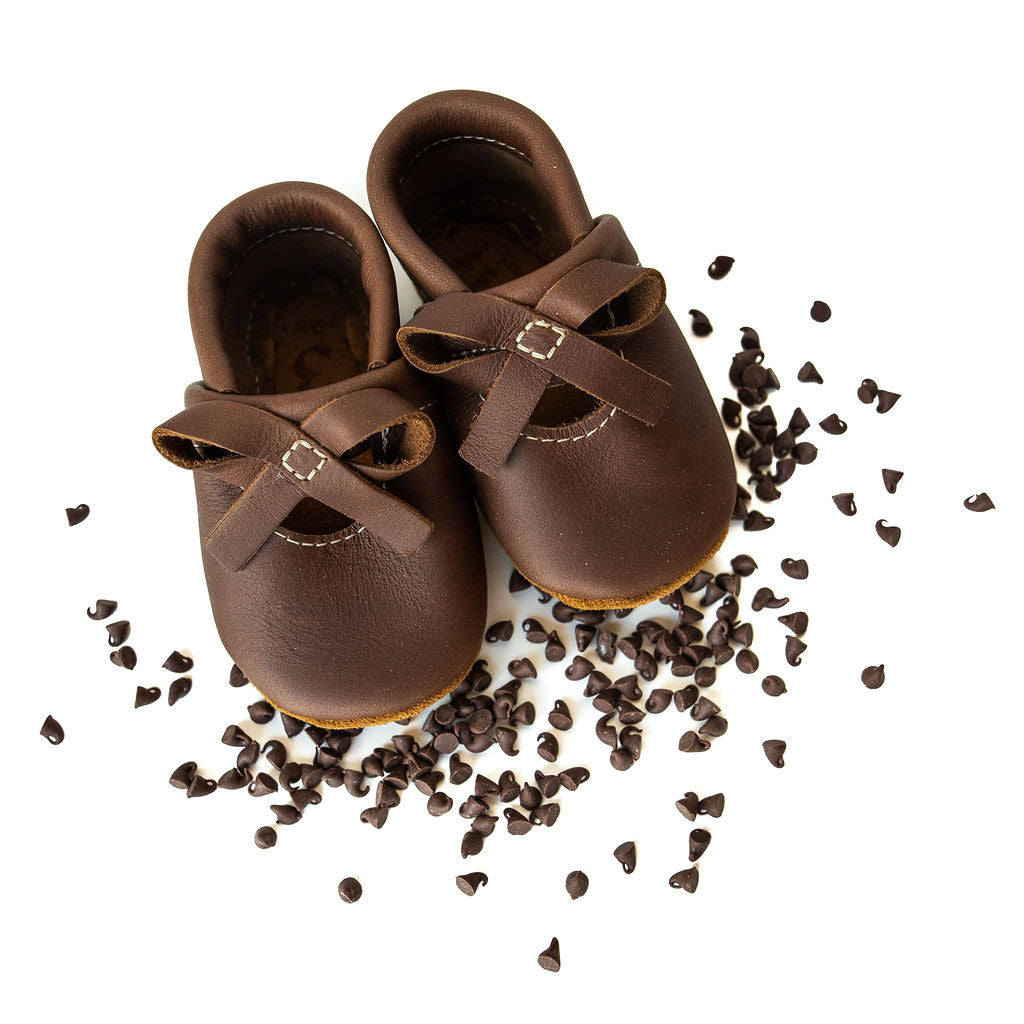 Walnut BALLET BOW FLATS Baby and Toddler