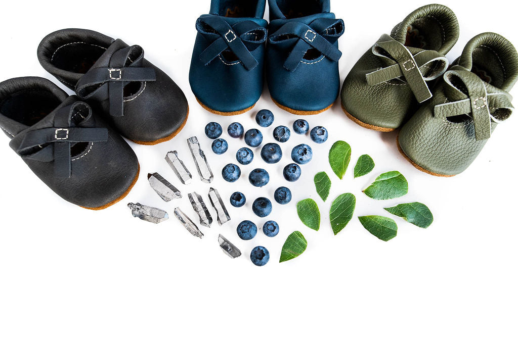 Iron, Moss, Denim BALLET BOW FLATS Baby and Toddler