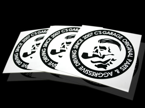Boss Slap-On Sticker - Black