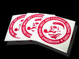 Boss Slap-On Sticker - Red