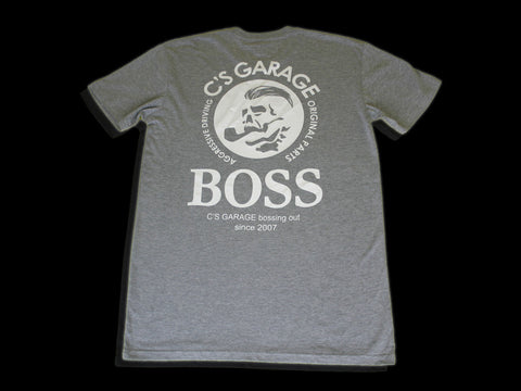 C's Garage Boss Tee - Grey
