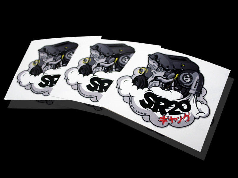 SR20 ギャング Sticker - Black