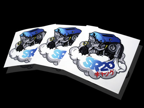 SR20 ギャング Sticker - Blue