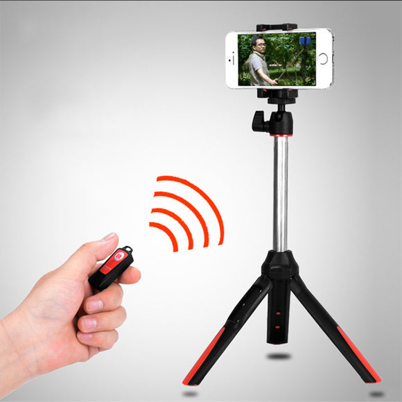 Handheld mini Tripod 3 in 1 Self-portrait Monopod Phone Selfie Stick w Bluetooth Remote Shutter for iPhone For Gopro