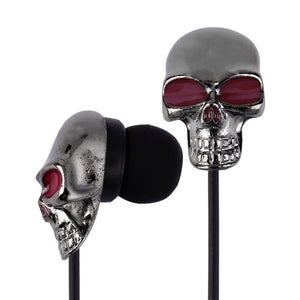 2017 New Cool Skull Stereo Earbud Earphones For MP3/4 Smartphone 3.5mm Wholesale Hot Sale