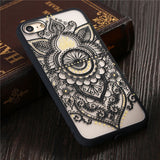 Fashion Datura Floral Phone Cases For iphone 7 6 6S Plus Cover Classic Lace Mandala Flower Pattern Fundas Hard Acrylic PC Shell