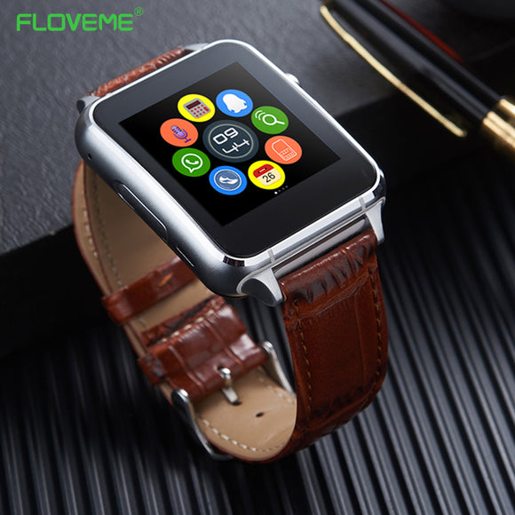 FLOVEME Bluetooth 3.0 Smart Watch Pedometer Anti Lost SIM Card Support E7 Smartwatch For Android Smartphone SIM Heart Rate Wrist