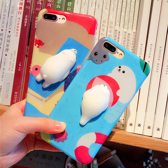 7 Colors 3D Cartoon  Animal Mobile Phone Shell