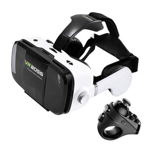 "VR BOSS 3D Glasses with headset + microphone 4"" - 6.3"" Smartphones + blueooth gamepad"