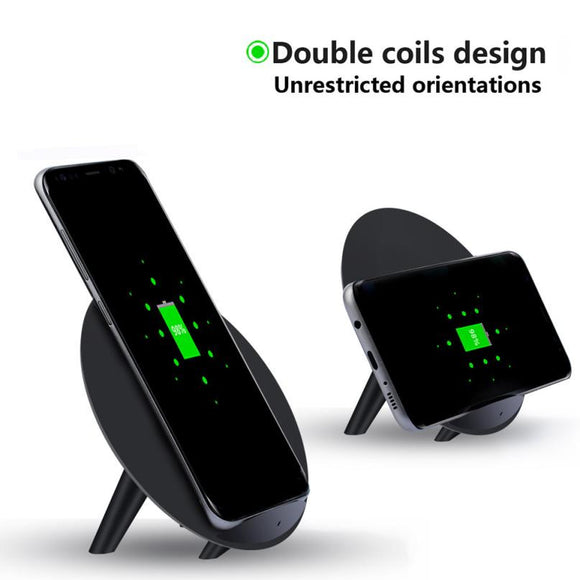 2017 Qi Fast Wireless Charger Universal Rapid Charging Stand Wireless Charger Pad for Samsung Galaxy S8 / S8 Plus#30
