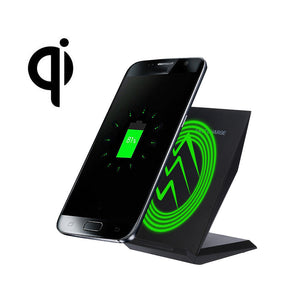 Fast Wireless Charger 2 Coils QI Wireless Charging Stand Dock for Samsung Galaxy S8/S8 Plus Wireless Charger#25