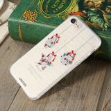 CASEIER Christmas Phone Case For iPhone 7 6 6S Plus iPhone 5S SE 5 Cases For Samsung Galaxy S6 S7 Edge Cute Cover Accessories