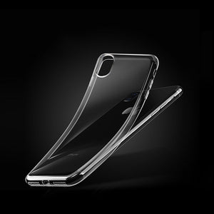 Tomkas Silicone Case For iPhone X Cover Clear Transparent TPU Dustproof Shell Phone Back Cover For Coque iPhone X Case Luxury
