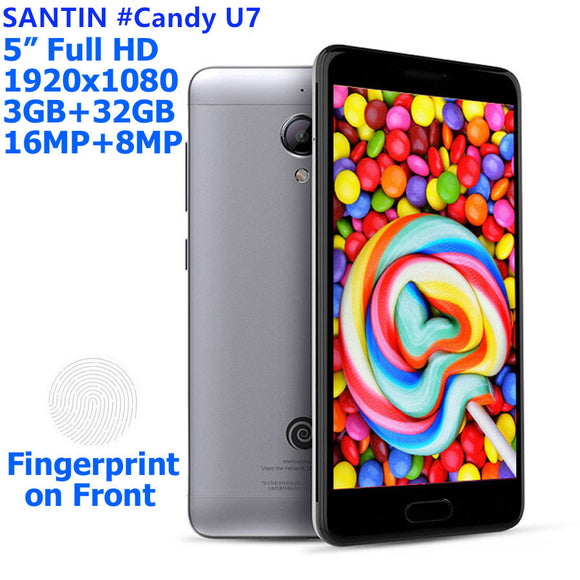 SANTIN #Candy U7 metal mobile phone smartphone octa core mtk6753 gps 3GB 3 GB RAM 32 GB 4G LTE android mobile phone smartphone
