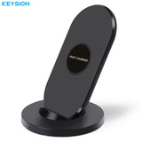 KEYSION 10W Qi Fast Wireless Charger for Samsung Galaxy S8 S8 Plus S7 edge Note 8 Wireless Charger stand for iPhone X 8 7