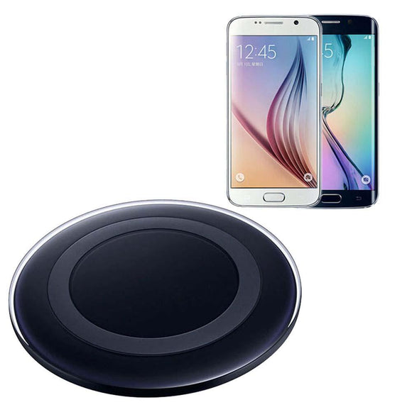 Qi Wireless Charger Charging Pad for Samsung Galaxy S6 / S6 Edge New Black