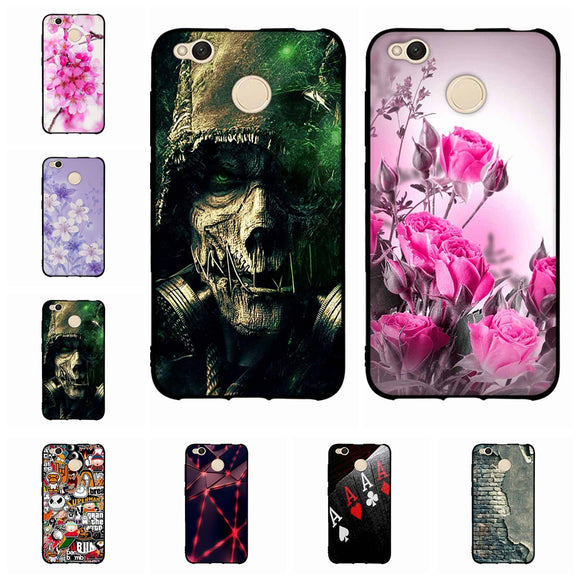 Cool Pattern Cover For Xiaomi Redmi 4X Case Soft Silicone TPU Back Cover Case For Xiaomi Redmi 4X Redmi 4 X Phone Case Capas