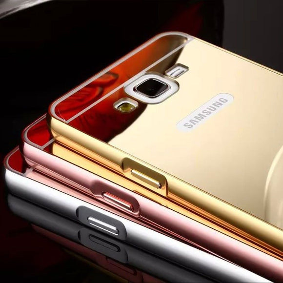 Thin Aluminum Metal Mirror Case Hard Back Cover for Iphone X 8 5 5s Se 6s 7 Samsung Galaxy S4 S5 S6 S7 Edge S8 Plus Note 8 Case