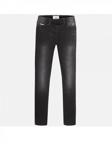 Mayoral Basic Denim Leggings in black