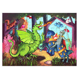 Djeco The Knight and the Dragon Puzzle