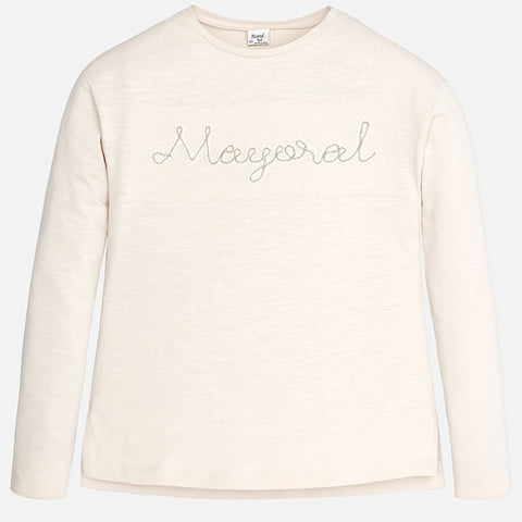 Girl long sleeve t-shirt with round neckline