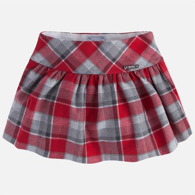 Mayoral Check A-Line Skirt