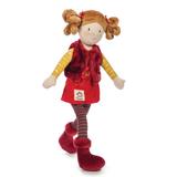 Ragtales Ruby Red Vest Rag Doll