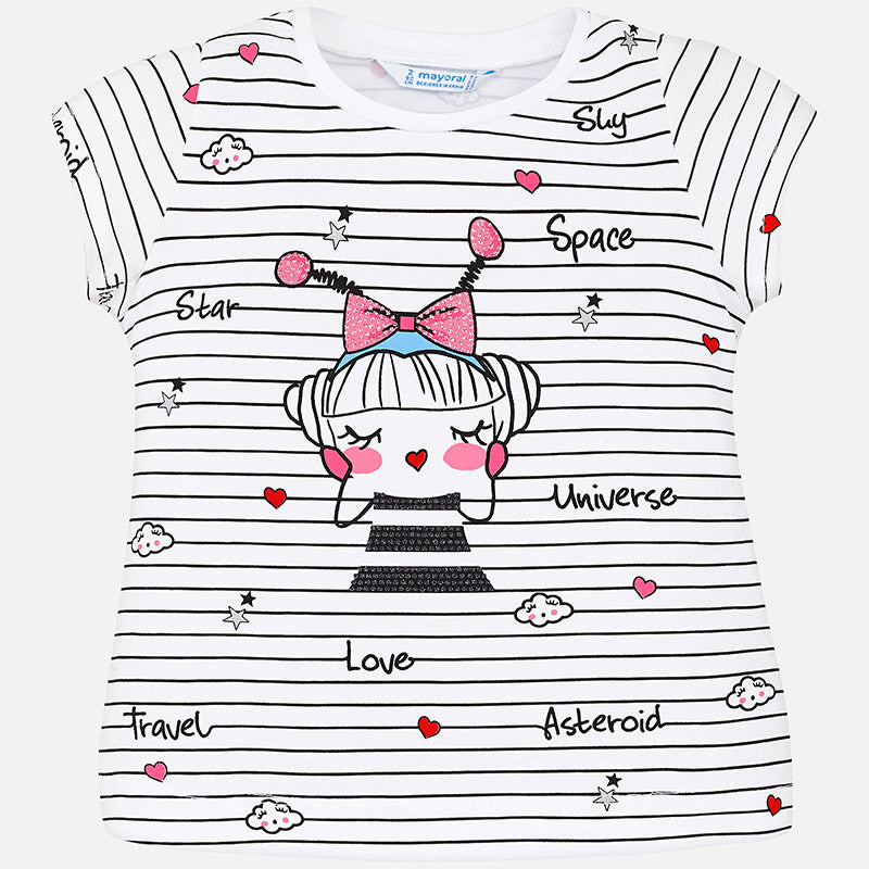 Mayoral Striped T-shirt for girl