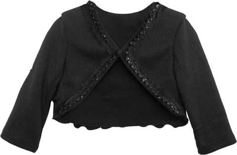 Isobella and Chloe Dark Grey Sequin Cardigan