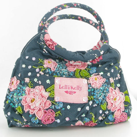 Lelli Kelly Blue Fantasy Rose Handbag