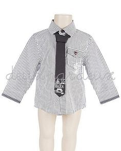 Deux par Deux Boys shirt with necktie