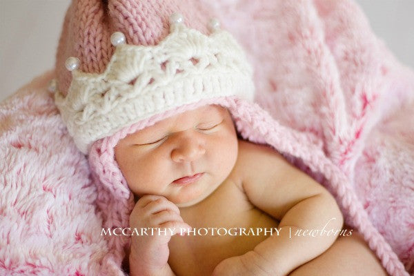 The Daisy Baby: Abigail Pink Princess Crown Hat