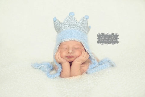 The Daisy Baby: Albert Baby Blue Boys King Hat