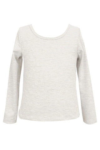 Baby Sara Super Soft Ivory L/S  Solid Top