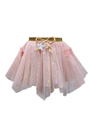 Baby Sara Pink and Gold Lined Tulle Tutu Skirt