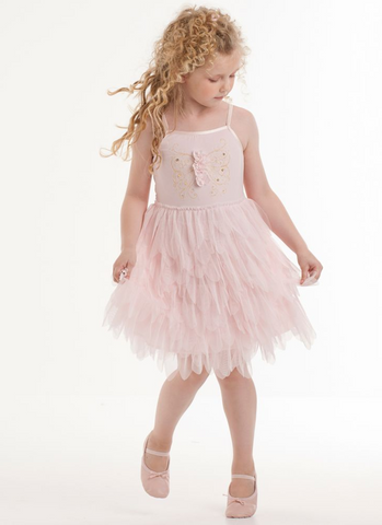 Biscotti Pink Tulle Petals Dress