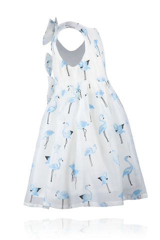 Doe A Dear Blue Flamingo Dress