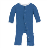 Kickee Pants Applique Coverall with Snaps, Twight Whale