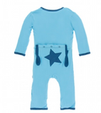 Kickee Pants Applique Coverall with Zipper, Confetti Star