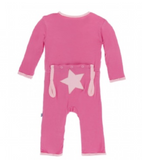Kickee Pants Applique Coverall with Snaps - Flamingo Star