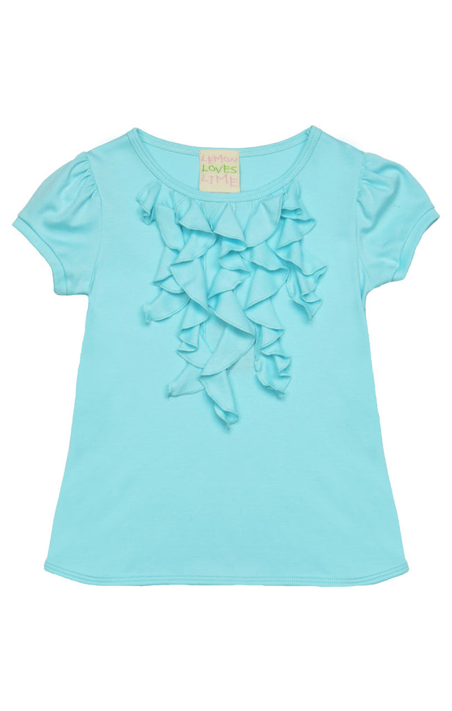 Lemon Loves Lime Girls  S/S Blue Tint Doll Top