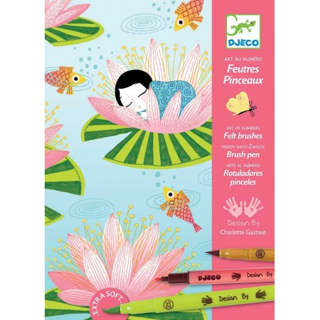 Djeco Felt Brushes Water Lily