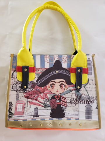 Frida Kahlo Inspired Large Purse