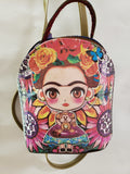 Frida Kahlo Inspired Small Backpack Purse