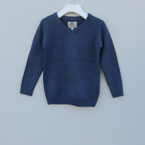 Kanz Blue slate v neck sweater
